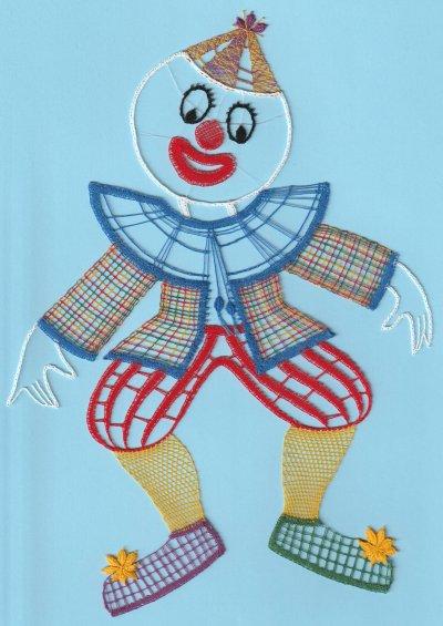 Dentelle : le clown 2