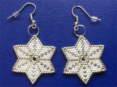 Perles : boucles d'oreilles étoiles 2