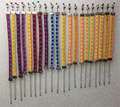 Kumihimo : les bracelets été 2017 montés