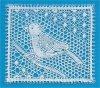 Dentelle : petit oiseau N° 2 en Binche