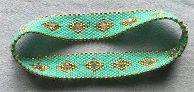 Perles : bracelet bangle