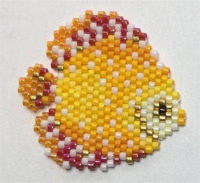 Perles : le poisson orange