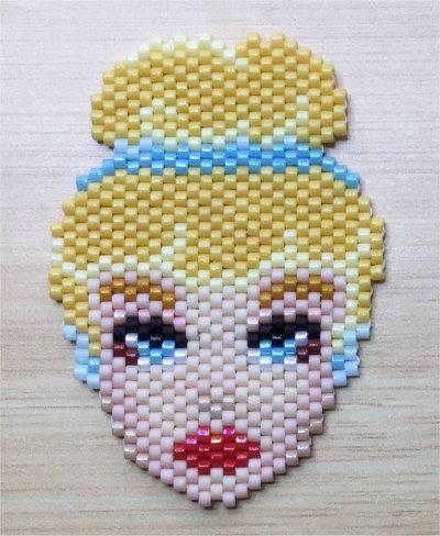 Perles : visage de Cendrillon