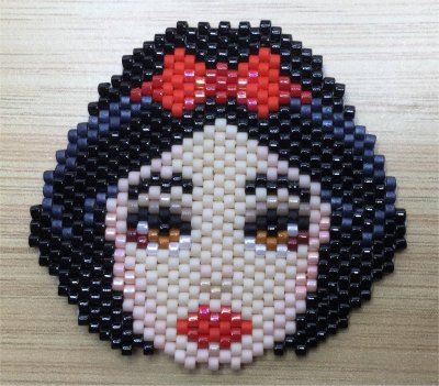 Perles : visage de Blanche-Neige