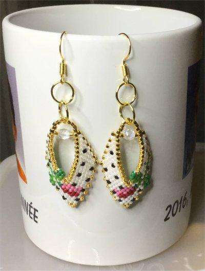 Perles : boucles d'oreilles 22