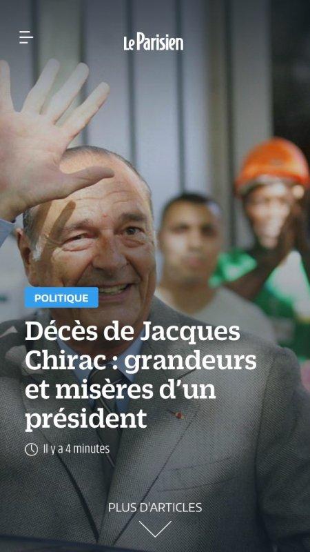 Reposé en paix Mr Chirac