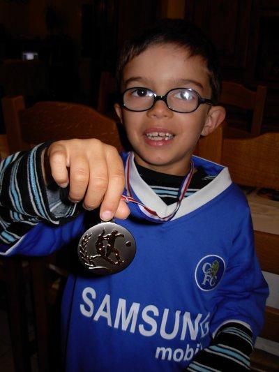 Romain et sa médaille !