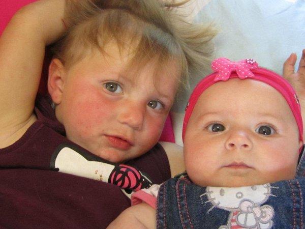 mes deux filles que jaime de tous mon coeur