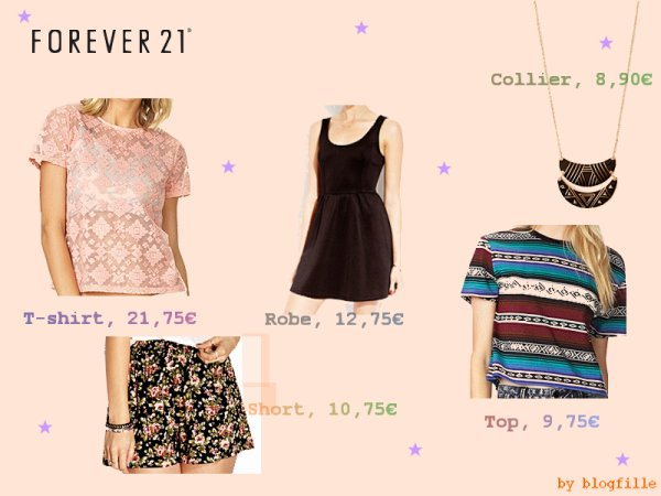 ► Nouvelle collection printemps 2014 chez Forever21 ◄