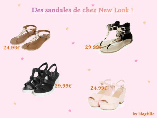 ► Des sandales de chez New Look ! ◄