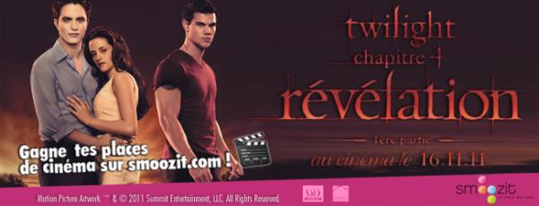 Twilight chapitre 4 : gagne des places de cinéma