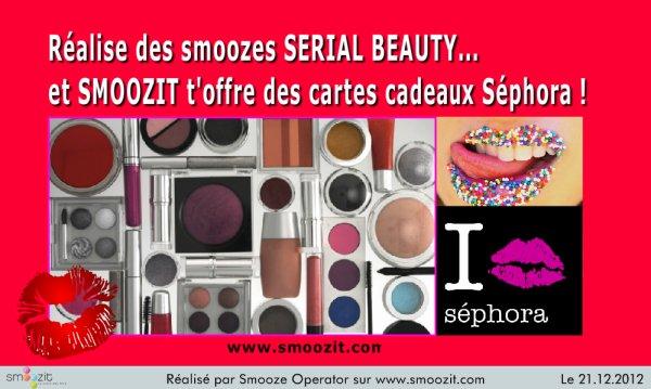 Concours Serial Beauty : des cartes cadeaux Séphora à gagner !