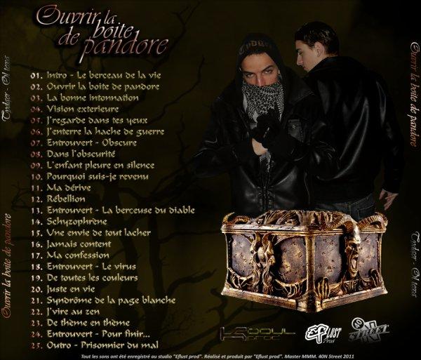 """L'album""""Ouvrir la boite de pandore""""en collabo avec le frangain Tydger-Tiano !! 6mars 2011 GRATOS  !!"""
