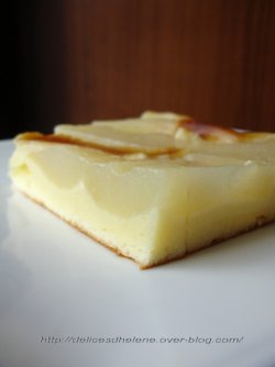 Gâteau poire fromage