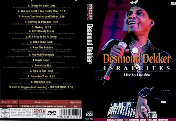 CONCERT : DESMOND DEKKER - Israelites - Live In London
