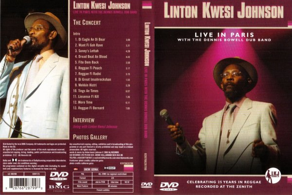 CONCERT : L.K.J (LINTON KWESI JOHNSON) WITH THE DENNIS BOWELL DUB BAND - Live in Paris