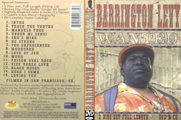 CONCERT : BARRINGTON LEVY - Wanted - Live In San Francisco