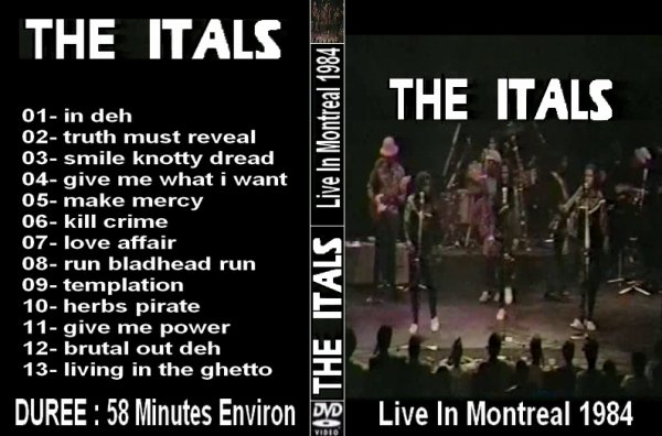CONCERT : THE ITALS - Live In Montreal 1984