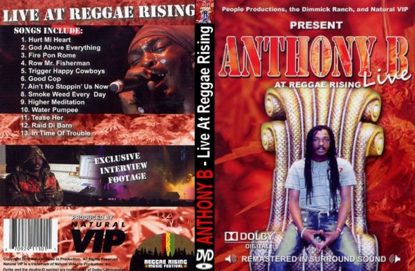 CONCERT : ANTHONY B - Live At Reggae Rising (2009)