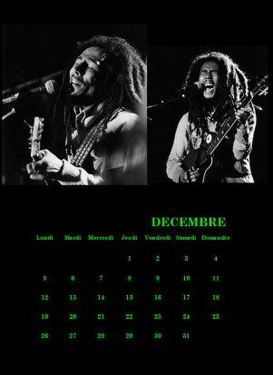 calendrier africain, bob marley ...