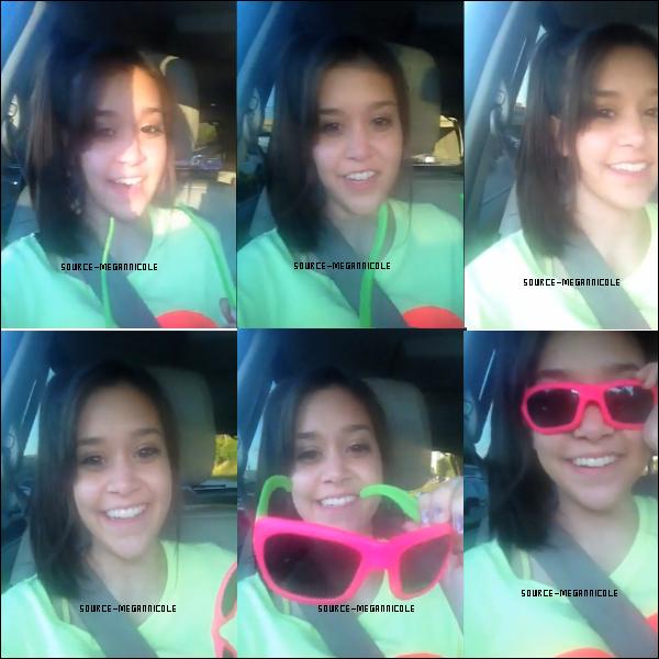 Megan a fait une vidéo sur Keek il y a 17 jours donc le 27/07/12 .