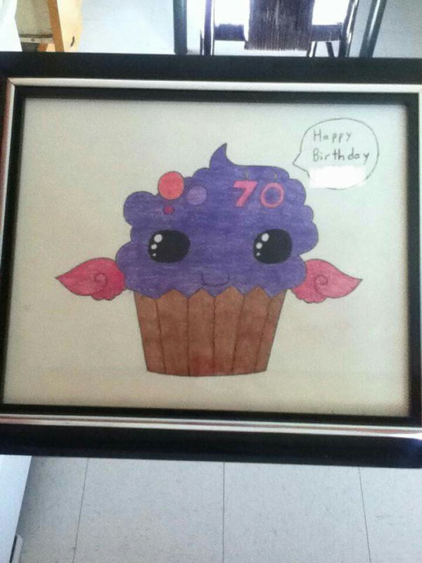 cupcake cartoon colored