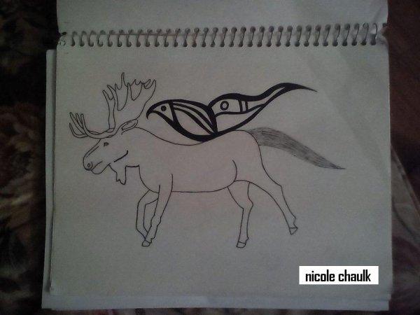 moose/butterfly/horse