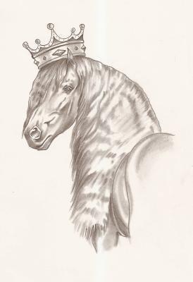Magnifique dessin de frison blog de fandefrisons13 - Dessin de cheval magnifique ...