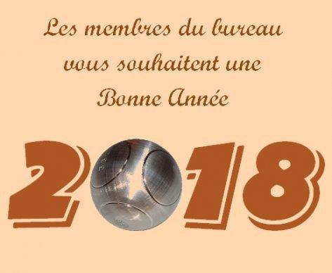 Bonne annee pour 2018