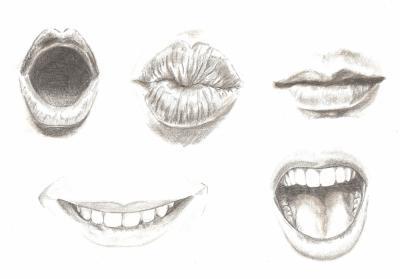 Tude bouche mad drawings dessin et illustration - Dessiner un bisou ...