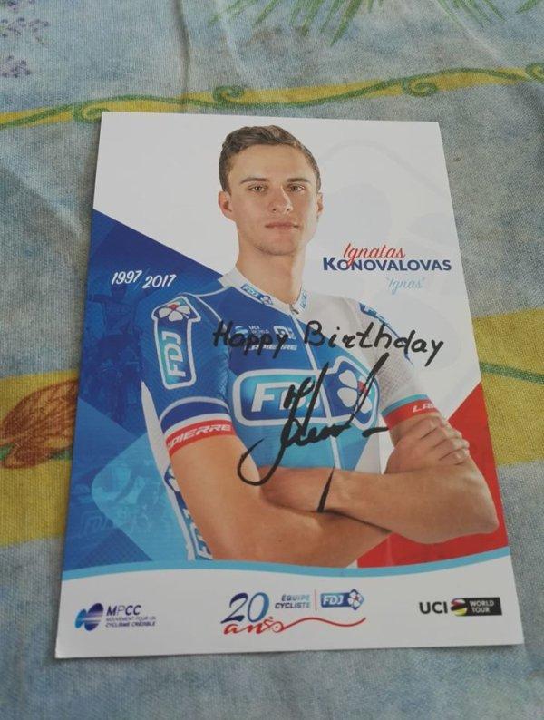 Nouvelle dédicace : Ignatas Konovalovas
