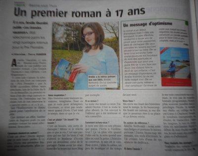 Presse - Article dans l'Avenir