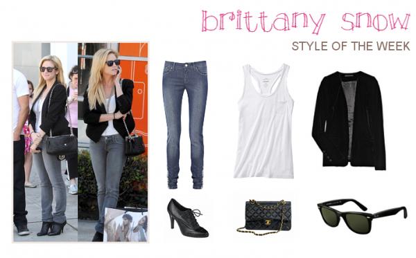 Cette semaine on copie sur ... Brittany Snow