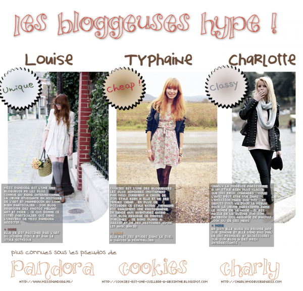 les bloggeuses en france //