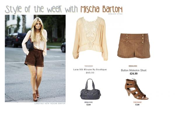 Cette semaine on copie sur ... Mischa Barton