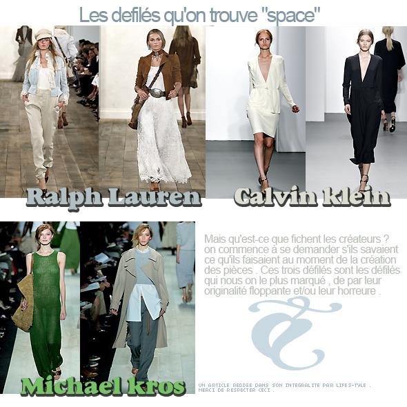 III) FASHION WEEK S/S 2011 // les tops , les flops , et ce qu'on peut en retenir .