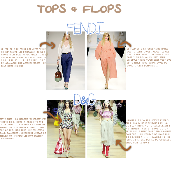 IV) Fashion week s/s 2011 //  blumarine -  giofranco ferre - fendi - D&G
