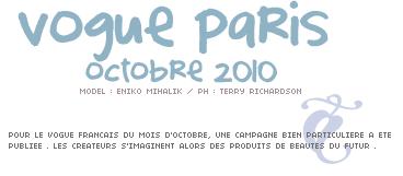 vogue FR - octobre 2010 /