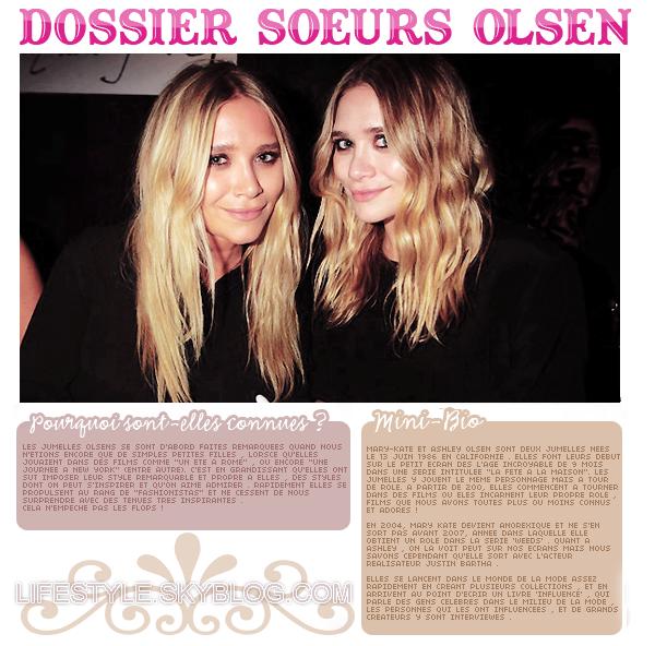 Dossier : Les soeurs olsen