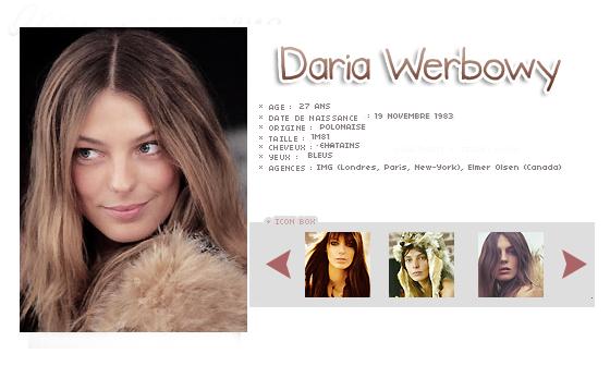 le model du mois : Daria Werbowy