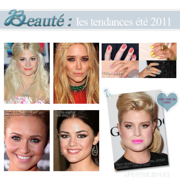 Beauté : les tendances de l'été 2011