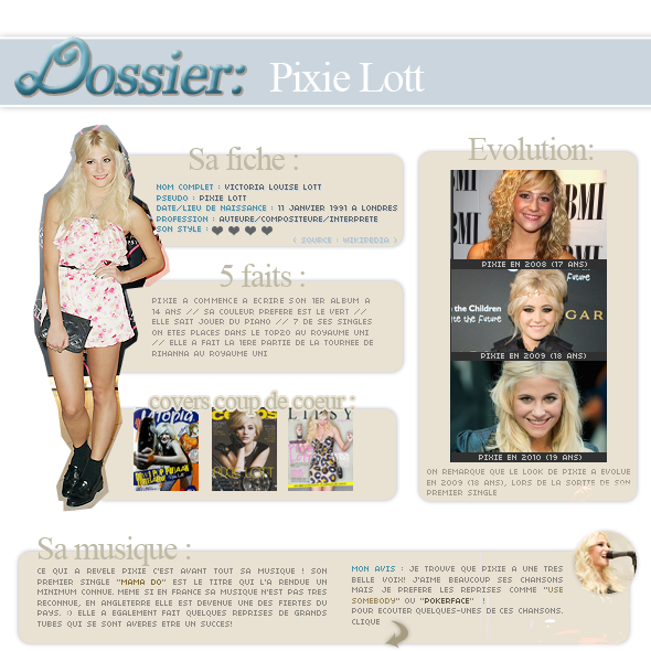 Dossier : la belle anglaise Pixi Lott
