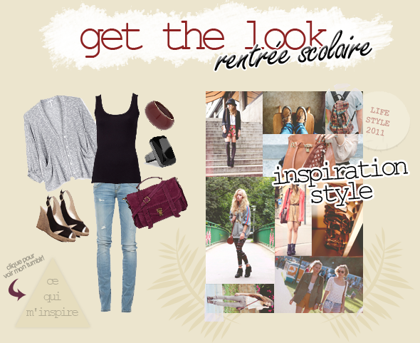 get the look & inspiration: rentrée scolaire facebook ▲ twitter ▲ formspring
