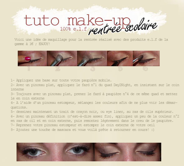 tuto maquillage : rentrée scolaire 2011facebook ▲ twitter ▲ formspring