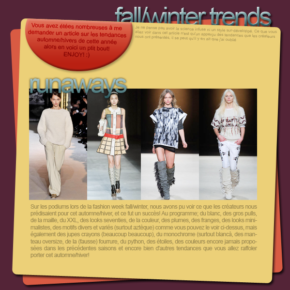 tendances mode automne/hiver 11facebook ▲ twitter ▲ formspring
