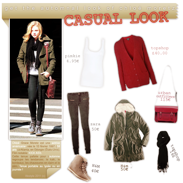 casual outfit for fall ft. chloe moretzfacebook ▲ twitter ▲ formspring
