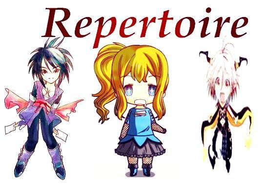 Répertoire manga et anime