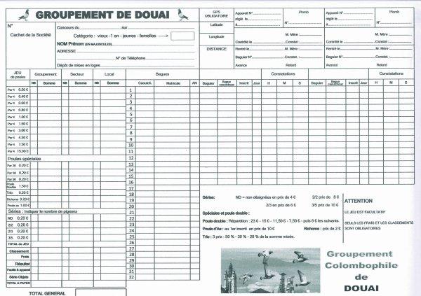 Concours 2019: Arrondissement de Douai, Fédéraux, Calc, Inter.