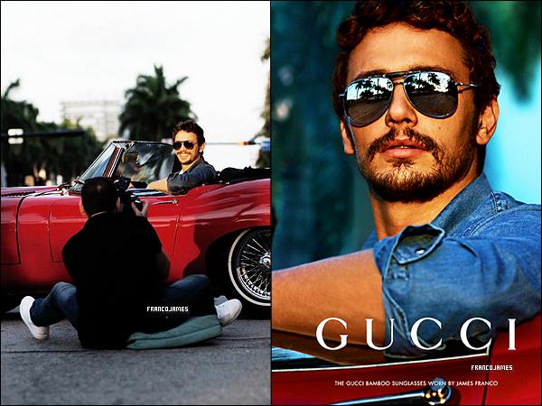James enchaîne en ce moment les photoshoot et campagnes publicitaires! Égérie chez Gucci depuis déjà 3 ans, il consacre son image à la dernière ligne de lunettes de soleil!