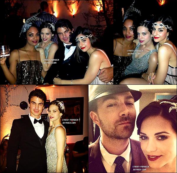26/05/13 : Lyndsy était à l'anniversaire d'un ami, sous le thème de « The Great Gatsby » dans West Hollywood.